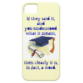 Clearly it is, in fact, a word iPhone 5 cover