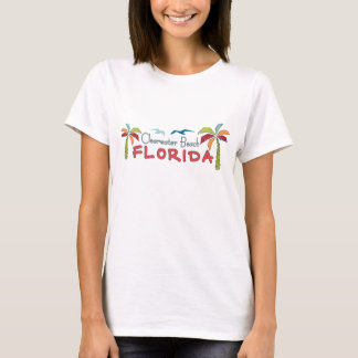 Clearwater Beach Florida artsy palms T-Shirt