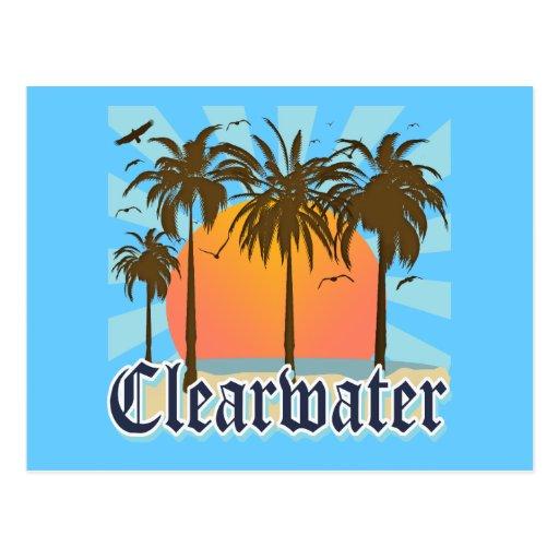 Clearwater Beach Florida FLA Postcard
