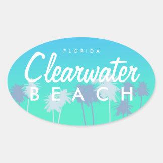 Clearwater Beach Oval Sticker