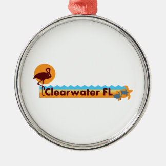 Clearwater Florida - Beach Design. Christmas Ornament