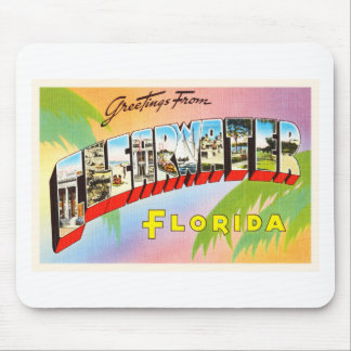 Clearwater Florida FL Old Vintage Travel Souvenir Mouse Pad
