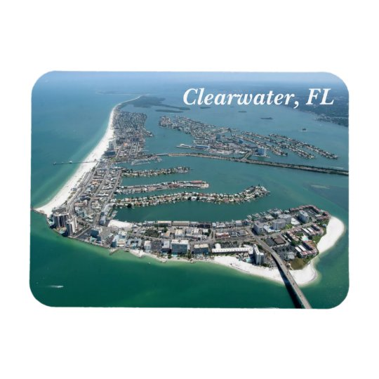 Clearwater Florida from above magnet
