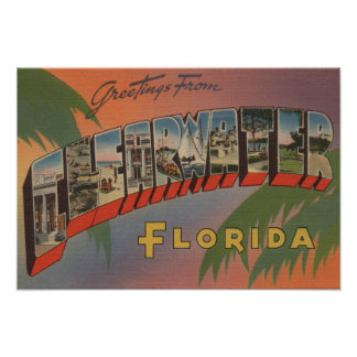 Clearwater, Florida - Large Letter Scenes 3 Poster