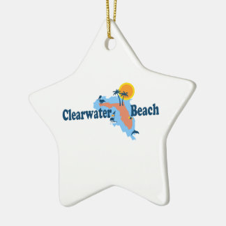 Clearwater Florida - Map Design. Christmas Ornament
