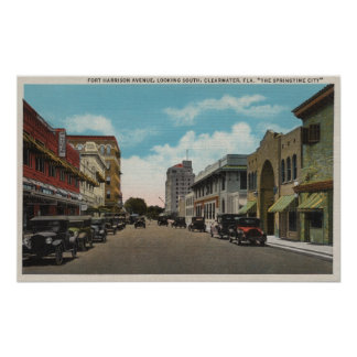 Clearwater, Florida - South View of Ft. Harrison Poster
