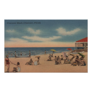 Clearwater, Florida - View of Clearwater Beach Poster