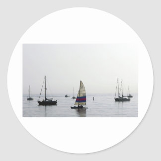 Cleethorpes early morning sailing classic round sticker