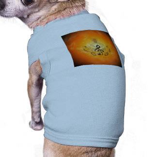 Clef and floral dog shirt