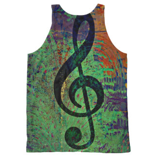 Clef Music Style All-Over Print Tank Top