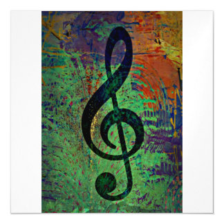 Clef Music Style Magnetic Invitations