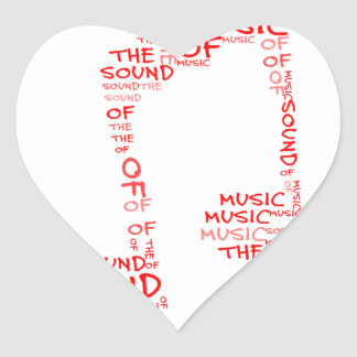 Clef - the sould of music heart sticker