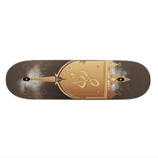 Clef with shield skateboard decks
