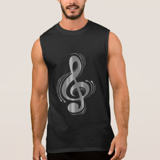 Clef - Wood & Brushed Chrome Sleeveless Shirt