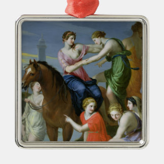 Clelia Crossing the Tiber Christmas Ornament
