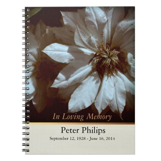 Clematis 2 Memorial Funeral Guest Book