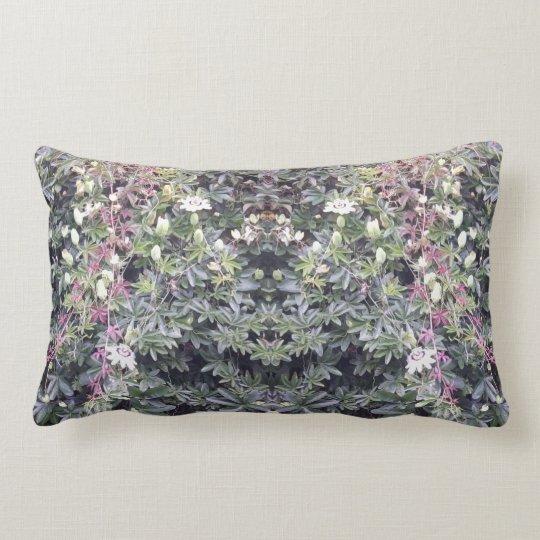 Clematis 714 Flower Photo Mirror Lumbar Pillow