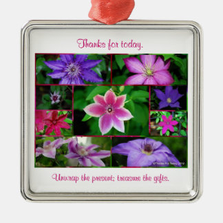 Clematis collage Ornament