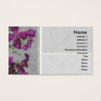 Clematis Elegant Paper Profile Card