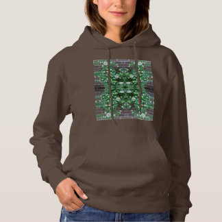 Clematis Flower Fractal MirrorB Hoodie (Chocolate)