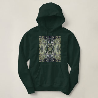 Clematis Flower Fractal MirrorC Hoodie Deep Forest