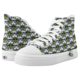 Clematis Flower Nature Abstract Pattern High Tops