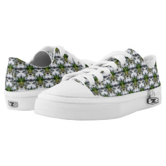 Clematis Flower Nature Abstract Pattern Printed Shoes