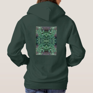 Clematis Flower Photo718 Fractal Hoodie Forest Grn