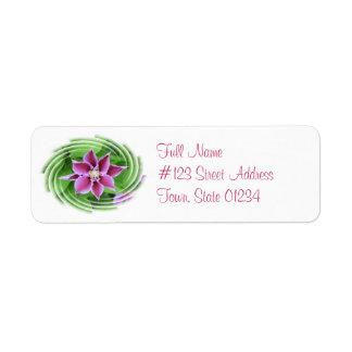 Clematis Flower Return Address Label