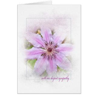 clematis flower sympathy card