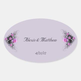 Clematis Flower wedding sticker