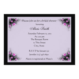 Clematis flowers bridal shower invitation