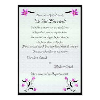 Clematis Flowers on Stoney Path Elopement 2 Card
