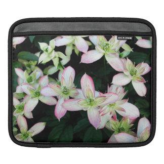 clematis,flowers,pink,garden+flowers,flower,pretty iPad sleeve