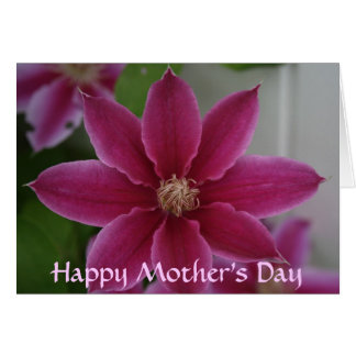 Clematis, Happy Mother's Day Card