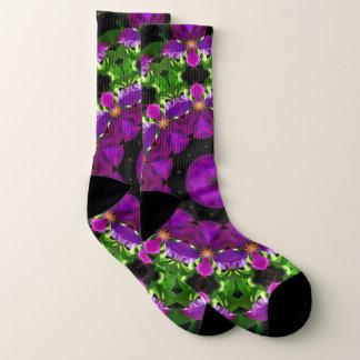 Clematis Kaleidoscope Design Socks 1