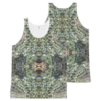 Clematis MirrorD Fractal Unisex Tank Top
