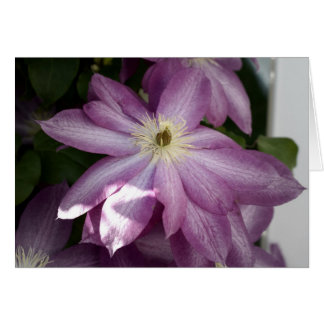 Clematis-painting effect card