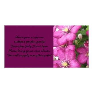 Clematis Photo Greeting Card