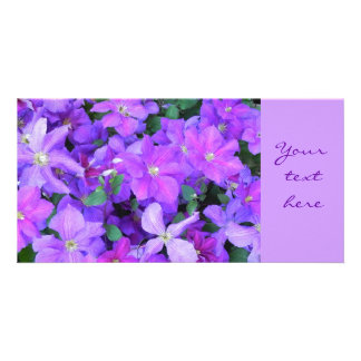 Clematis - photomap customized photo card
