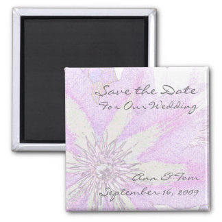 Clematis Save the Date Magnet