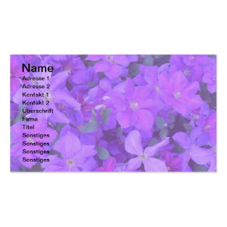 Clematis - visiting card