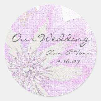 Clematis Wedding Envelope Seal Stickers