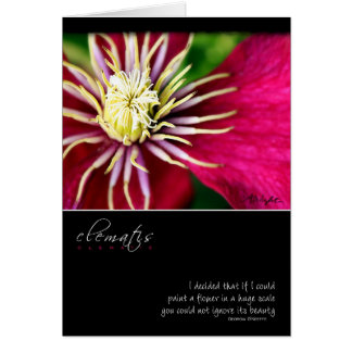 Clematis with Georgia O'Keeffe Quote Card