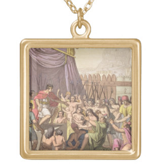 Clemency of Mayta-Capac: offers pardon to conquere Gold Plated Necklace