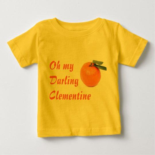 clementine infant shirt