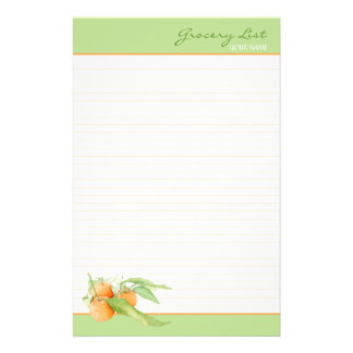 Clementine Oranges Lined To Do List Stationery