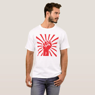 Clenched fist with rays for protest meeting. T-Shirt