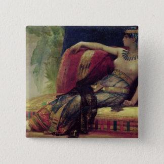 Cleopatra 15 Cm Square Badge