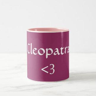 Cleopatra, <3 Two-Tone coffee mug